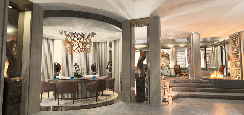 Luxury hotel lobbies by Rockwell Group