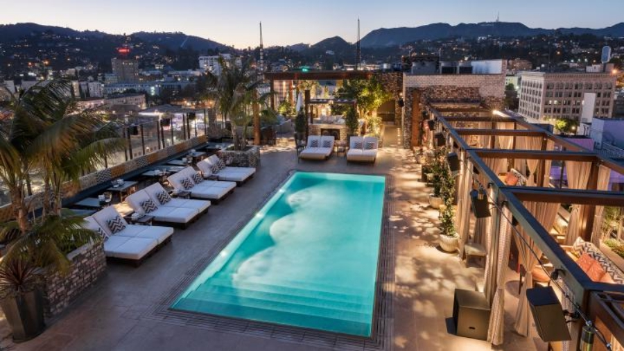 DREAM HOLLYWOOD HOTEL BY DAVID ROCKWELL | Come get amazed by the best luxury hotel lighting inspiration. See more pieces at hotellobbies.net