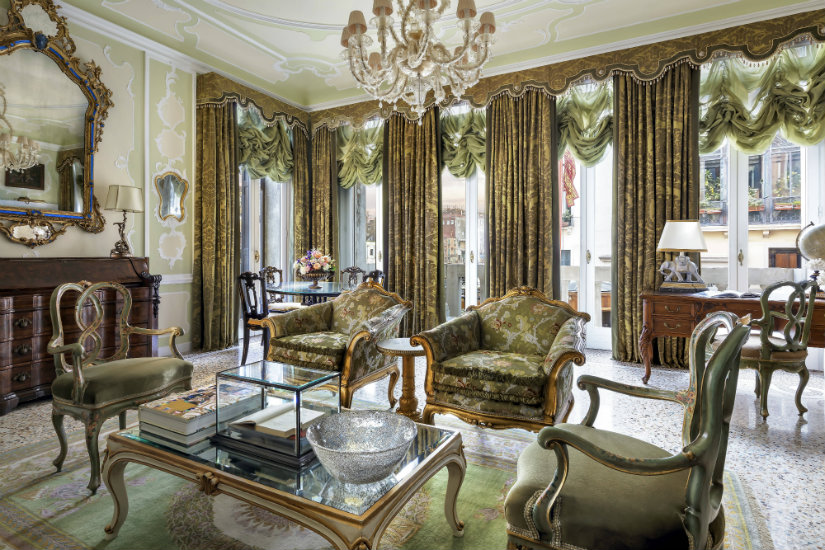 Gritti Palace, luxury hotel suites design