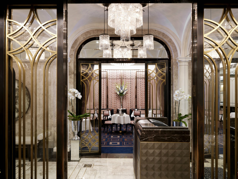 art deco hotel luxury lighting