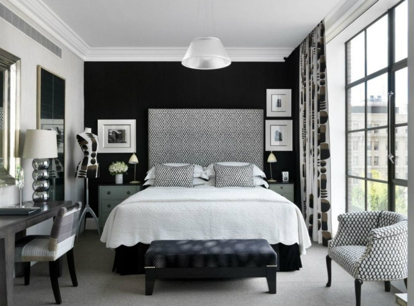 black & white style hotel interior decor ideas