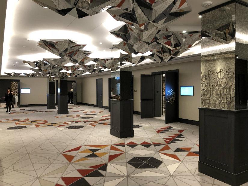 geometric patterns 2019 hotel trends