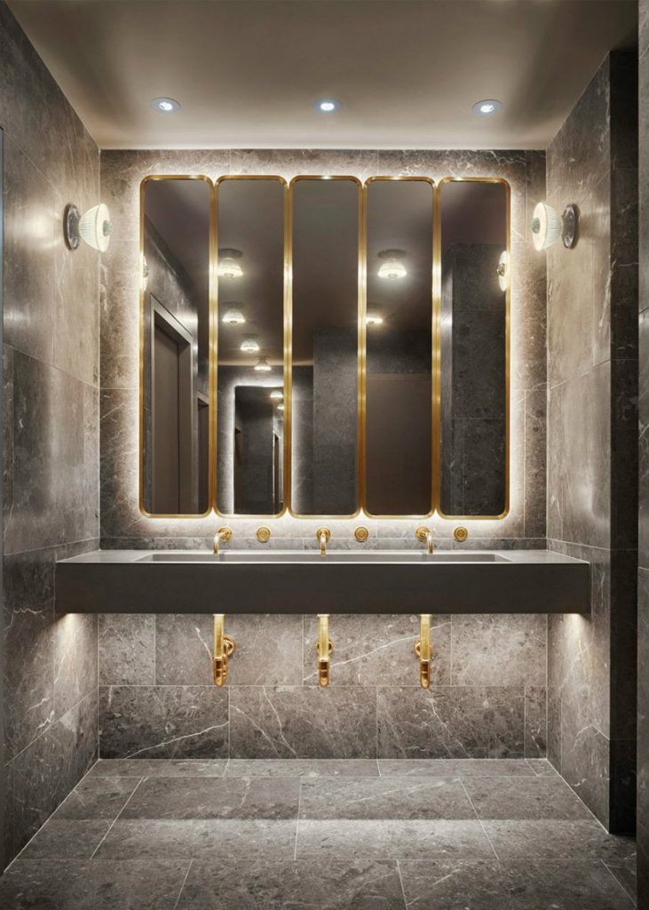 Hotel Interior Design - Marble bathroom ideas at 11 Howard