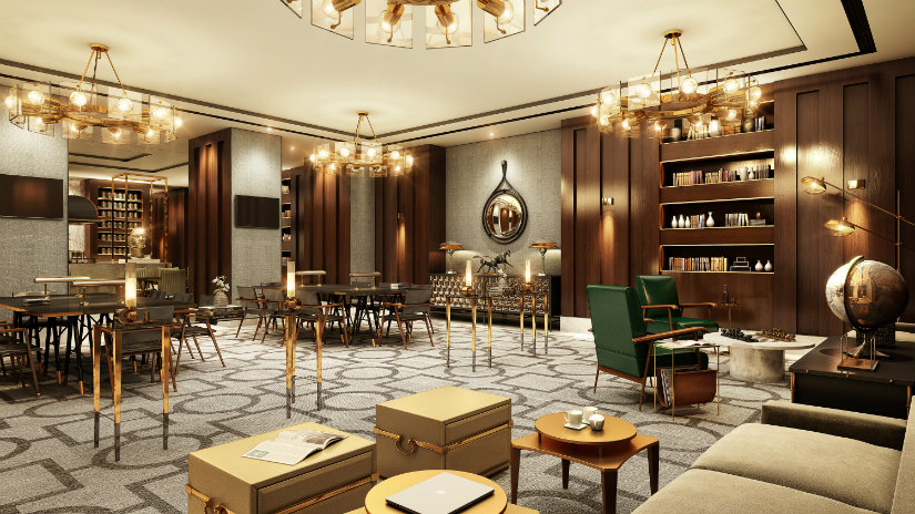 Luxury Hotel Waldorf Astoria Dubai Library