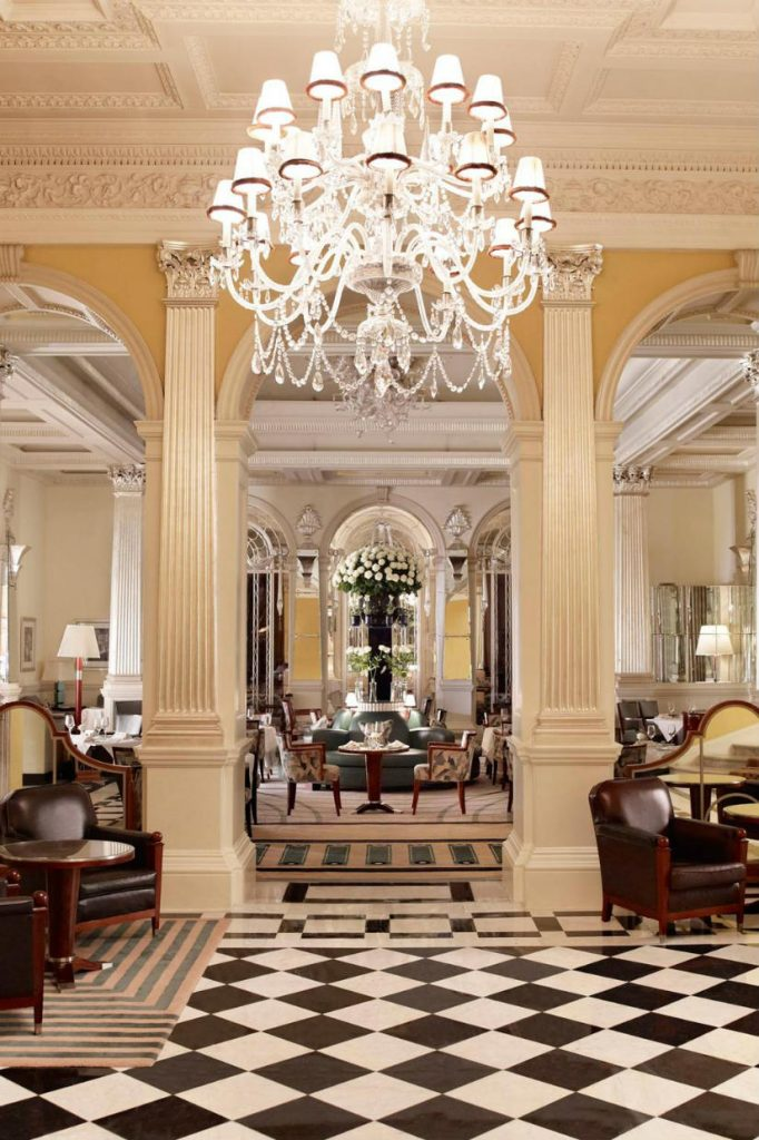 art deco style hotel - Claridges lobby hotel london