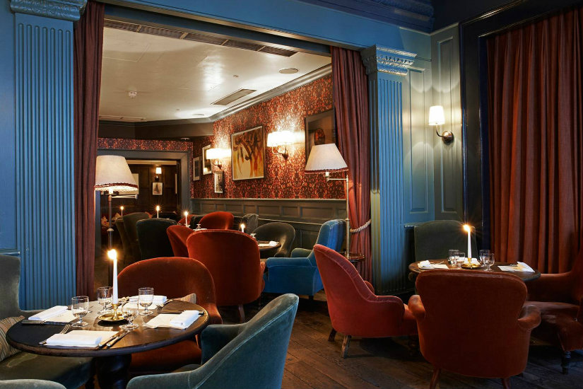 Best London hotels - Dean Street Townhouse hotel decor