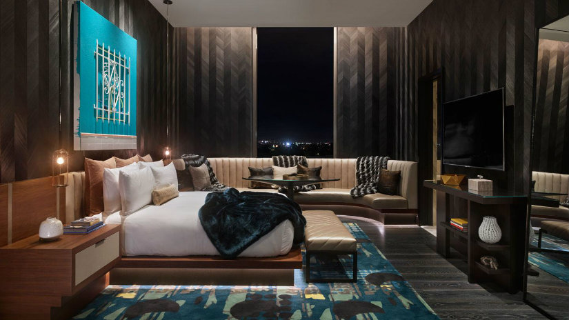 Luxury hotel bedroom by Rockwell Group
